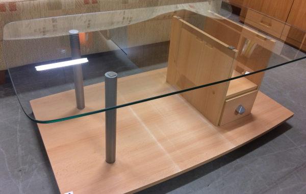 508 konferenční stolek světlý se sklem
