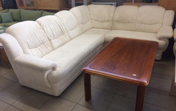 819 bílá velká rohová sedačka