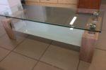965 nízký konferenční stolek se sklem 118x42x40cm za 1460Kč