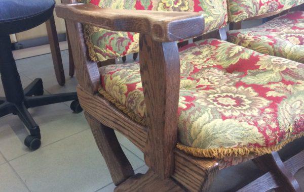 30 Dubová lavička 150cm   s pevnou židlí za 1780Kč