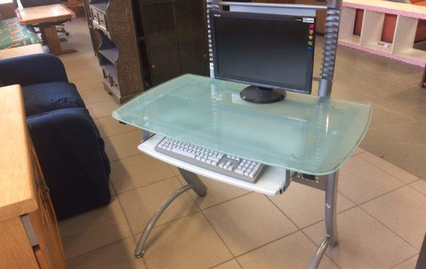 57 počítačový kovový+sklo, stolek  100x60x76cm vysoký za 1740Kč