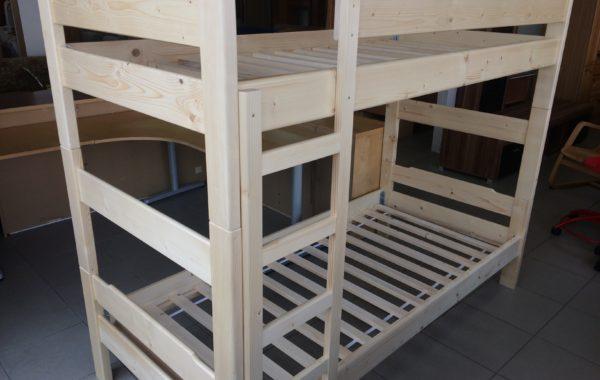 190 nová patrová smrková postel s rošty208x98x165cm vysoká za 4580Kč