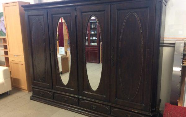 776 velká dubová starožitná šatní skříň 270x60x210cm za 6860Kč