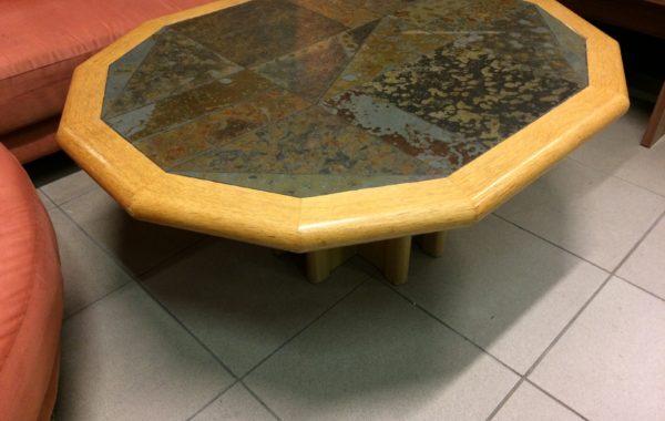 820 konferenční stolek s břidličnou dlažbou,115x95x50cm za 1760Kč