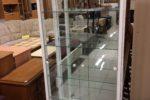 64 bílá vitrínka-skleníček 76x36x176cm vysoká,cena 1840Kč