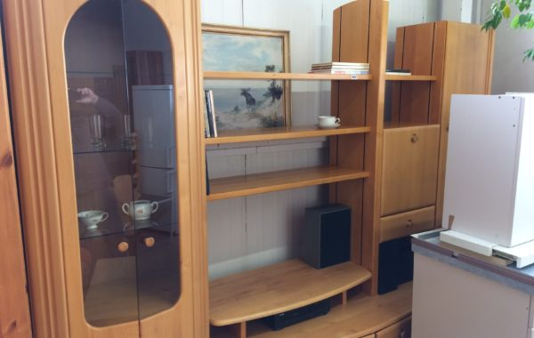 123 dubová obývací stěna 270x60x210cm vysoká,variabilní sestavení .cena 4630Kč