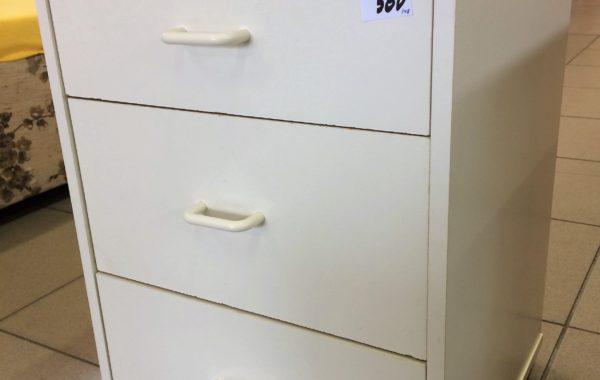 178 bílá tříšuplíková skříňka 40x40x60cm za 580Kč