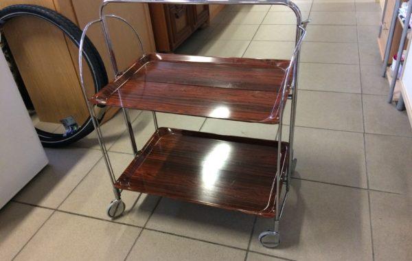 295 skládací chromovný servírovací stolek 70x40x80cm za 490Kč