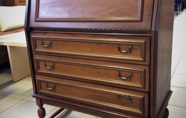 352 rustikální dubová výklopná psací skříňka 90x40x115cm,cena 2890Kč