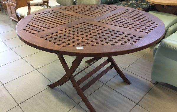 781 Kulatý venkovní luxusní stůl prům.120cm,v 75cm ,meranti dřevo za 2450Kč