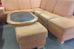 788 rohová okrová sedačka + taburet 270x230cm s úl.prostorem za 4380Kč