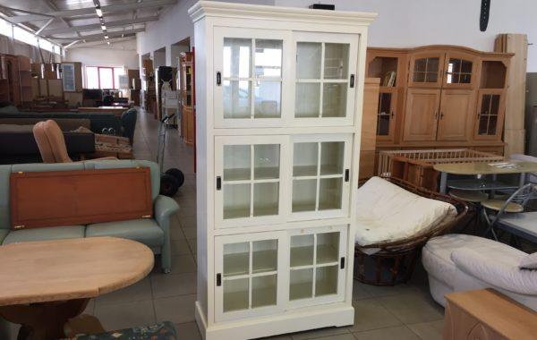795 bílá prosklenná vitrina-styl Provance 105x47x200cm, za 2980Kč