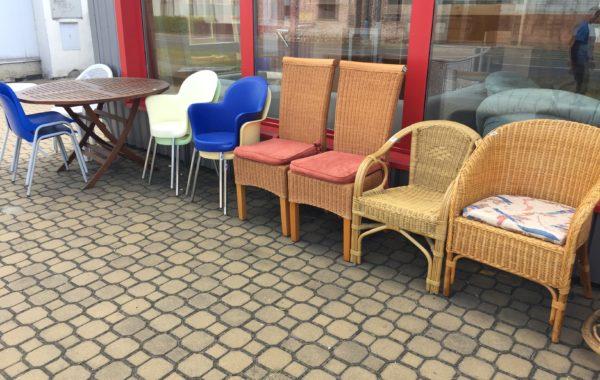 výběr z plastových+ratanových kvalitních zahradních židlí od 280Kč