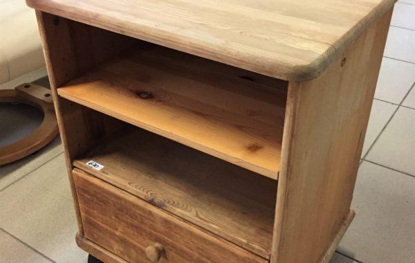 328 borovicový stolek se šuplíkem,bez laku,jen vosk 50x45x65cm za 670Kč