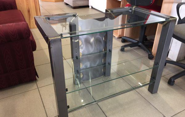436 televizní stolek kov+ sklo ,designový -90x47x70cm za 970Kč