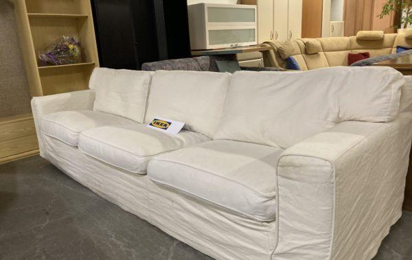 561 IKEA bílá velká pohovka s pratelnými potahy a polštáři 260cm šířky za 2960Kč