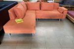 113 oranžová rozkládací rohová sedací souprava 210x240cm s úl.prostorem za 4470kč