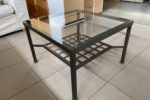 117 kovový moderní stůl s sklem 70x70x48cm za 890Kč