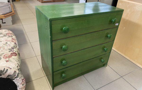 129 dvě zelené šuplíkové komody 75x36x75cm ,kus po 940Kč