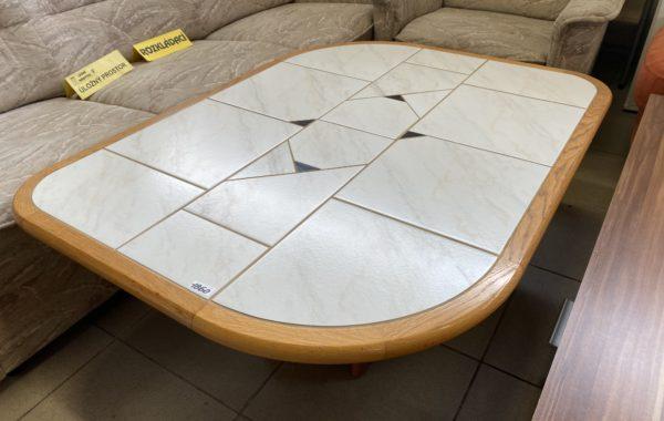 147 konferenční stůl s dlažbou a dubovou kostrou 120x90x50cm za 1860Kč