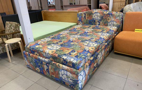 208 kvalitní postel s lamelovým zesíleným roštem 120x200cm + úl.prostor za 2980Kč
