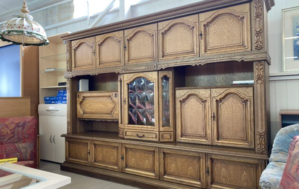226 rustikální dubová stěna 280x52x205cm za 8780Kč