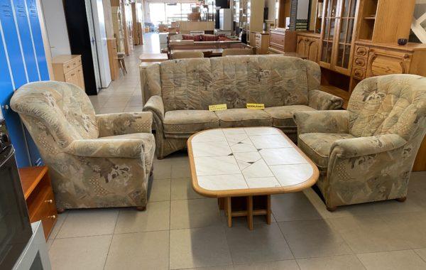 576 rozkládací vysoká sedací souprava 3+1+1 -215cm pohovka se spaním a úl.prostorem za 4670Kč