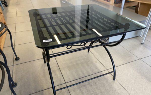 462 kovový stolek s tmavým sklem 65x60x50cm za 840Kč