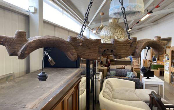 357 starý velký dubový hradní lustr 130cm za 2350Kč