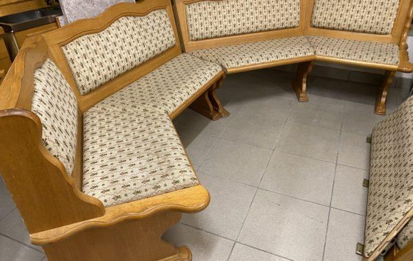 473 rohová dubová čalouněná lavice do U tvaru 300cm,lze zvětšit na 400cm za 4980Kč