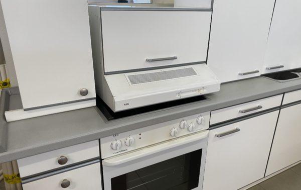 115 bílá linka 280cm s AEG spotřebiči-sporák,myčka a digestoř za 15870Kč