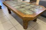 138 dubový konferenční stůl s dlažbou 160x77x57cm za 2450Kč