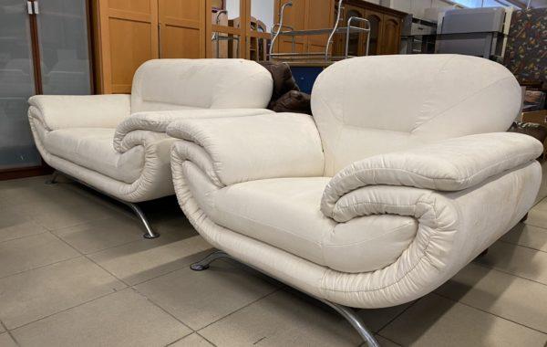 158 moderní pohodlná bílá 2+1 z mikroplyše ,šířky 165 + 115cm za 4870Kč