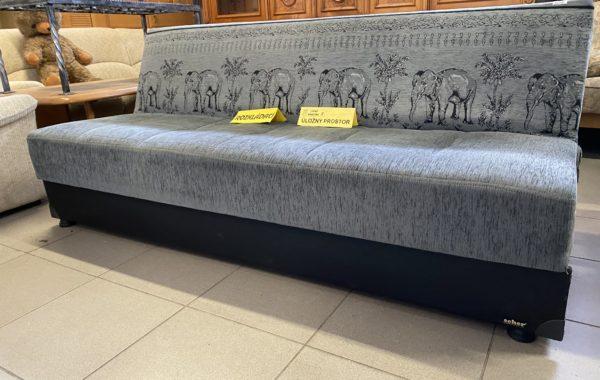 301 rozkládací pohovka 197cm s motivem slonů a úl.prostorem za 2540Kč